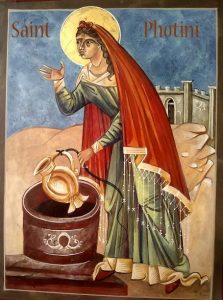 samaritan at the well icon painting