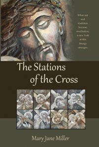 A collection of 15  Stations of the Cross paintings and Meditations